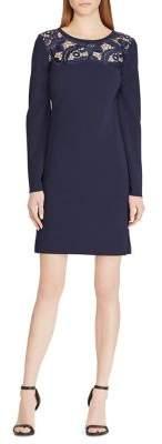 Lauren Ralph Lauren Lace-Yoke Jersey Dress