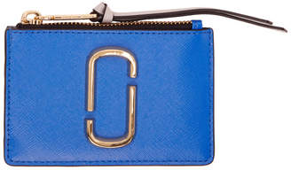 Marc Jacobs Blue Snapshot Top Zip Multi Card Holder