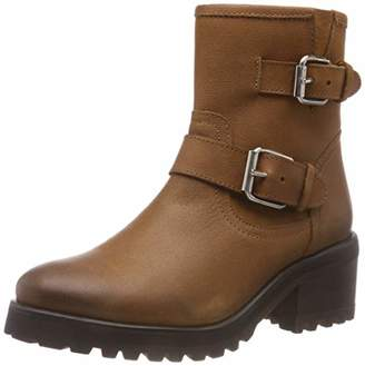 e28f95a9442 Steve Madden Brown Leather Upper Boots For Women - ShopStyle UK