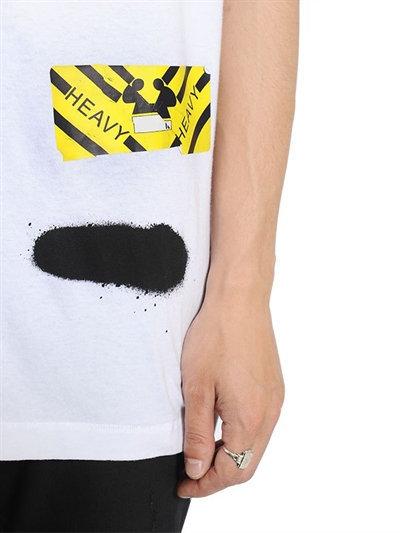 Spray Stripes Cotton Jersey T-Shirt 4