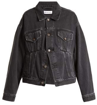 Balenciaga Swing Denim Jacket - Womens - Black