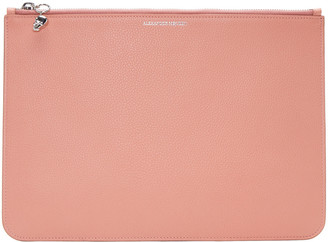Alexander McQueen Pink Leather Pouch $395 thestylecure.com