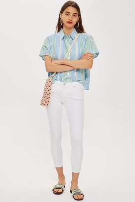 Topshop Womens Petite White Leigh Jeans - White