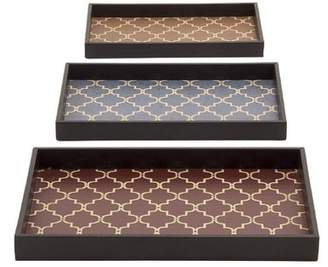 Cole and Grey Cole & Grey 3 Piece Serving Tray Set