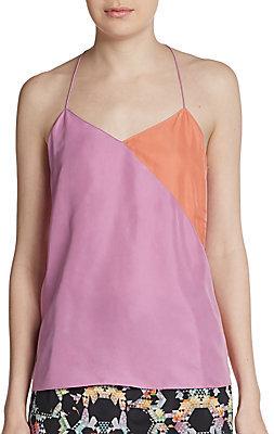 Tibi Colorblock Silk Camisole