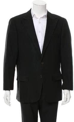 Versace Two-Button Textured Blazer