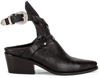 Zeynep Arcay Leather Cowboy Sobo Ankle Boots in Black   FWRD