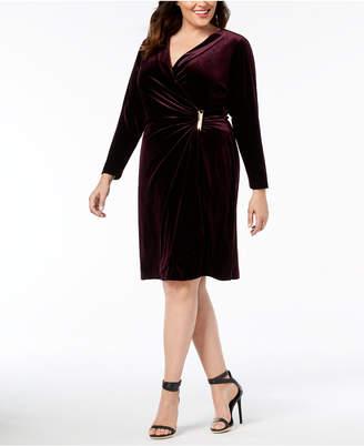 Calvin Klein Plus Size Velvet Sheath Dress