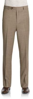 Tommy Hilfiger Trim-Fit Sharkskin Wool Pants