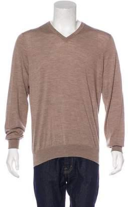 Brunello Cucinelli Virgin Wool & Cashmere V-Neck Sweater