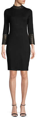 Calvin Klein Studded Mock Neck Dress