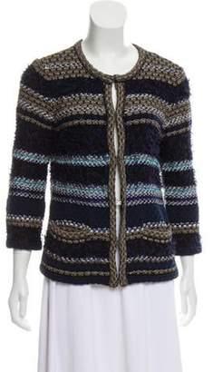 Diane von Furstenberg Knit Striped Cardigan Blue Knit Striped Cardigan