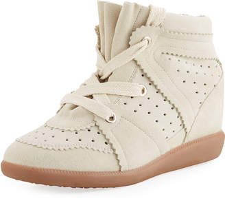 Isabel Marant The Bobby Suede Wedge Sneakers