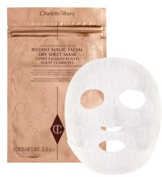 Charlotte Tilbury Instant Magic Facial Dry Sheet Mask $22 thestylecure.com