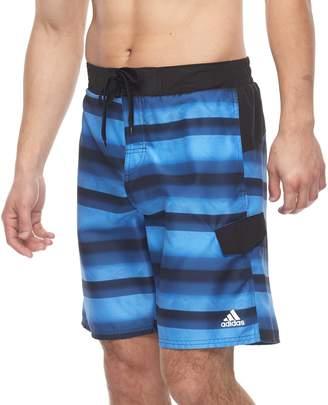 adidas Men's Tech Striped Microfiber E-Board Shorts