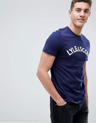 Lyle & Scott embroidered logo t-shirt in navy