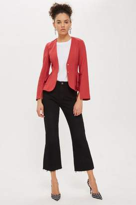 Topshop Peplum Fitted Jacket