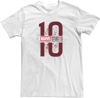 Icons Licensed Character Men's Teen Marvel Studios The First Ten Years Hero Tee Shirt