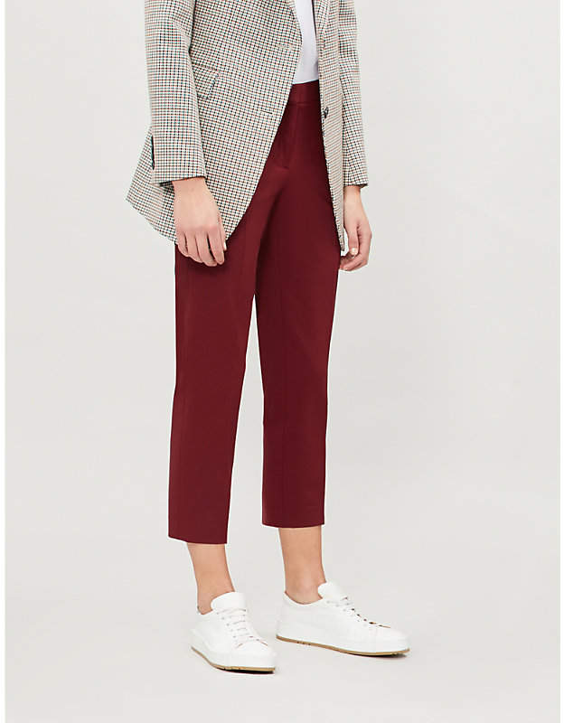 Treeca mid-rise stretch-wool tapered trousers