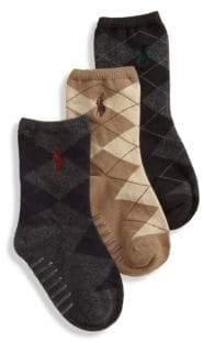 Ralph Lauren Toddler's Three-Pair Argyle Slack Socks
