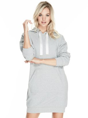 GUESS Taylor Hooded Sweatshirt Dress $89 thestylecure.com