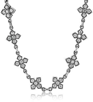 "King Baby Studio Small"" MB Cross Necklace with Cubic Zirconia"