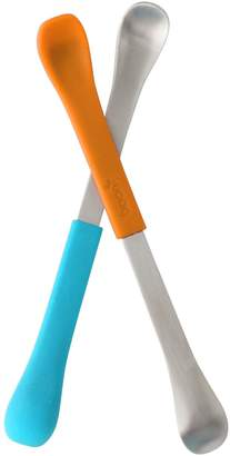 Boon SWAP 2-in-1 Baby Feeding Spoons - Pack of 2 - Orange and Blue - BPA free
