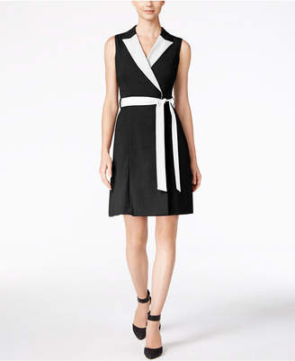 Calvin Klein Colorblocked Wrap Dress $89.98 thestylecure.com