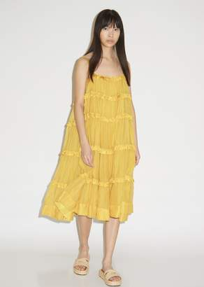 Yellow Sleeveless Dress - ShopStyle UK 610da2333