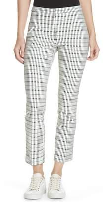 Theory Grid Crop Skinny Pants