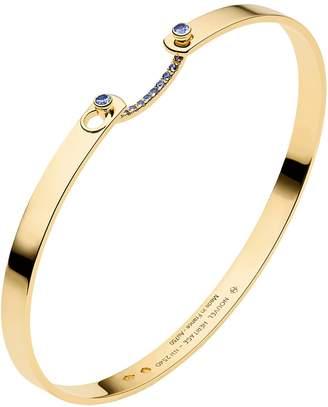 Nouvel Heritage 16cm Blue Sapphire Business Meeting Mood Bangle Bracelet - Yellow Gold
