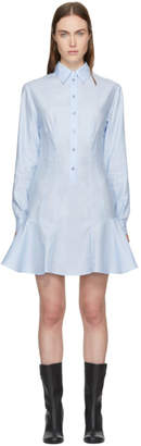 Stella McCartney Blue Poplin Ruffle Dress