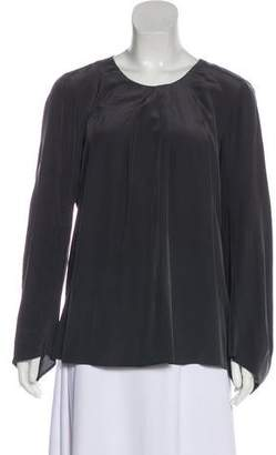 Ulla Johnson Silk Long-Sleeve Blouse