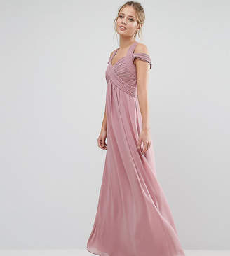 Little Mistress Crossover Empire Maxi Dress