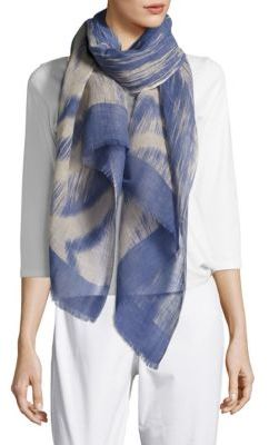 Eileen Fisher Woodgrain Linen and Organic Cotton Scarf $98 thestylecure.com
