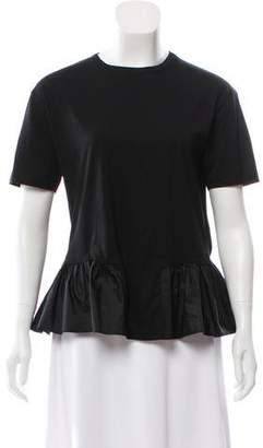 Stella McCartney Short Sleeve Peplum T-Shirt