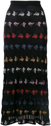 Sonia Rykiel floral knit maxi skirt