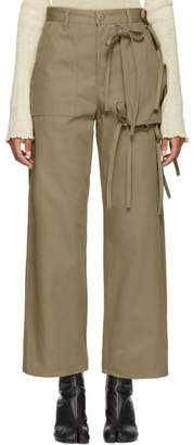 MM6 MAISON MARGIELA Beige Cargo Tie Trousers
