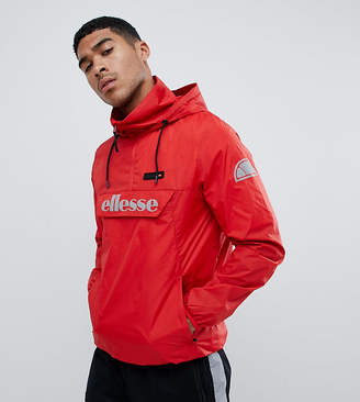 Ellesse Overhead Jacket With Reflective Logo In Red
