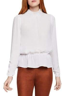 BCBGeneration Mockneck Peplum Top