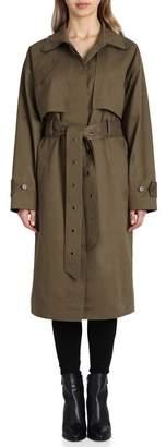 Badgley Mischka Cotton Blend Utility Trench Coat