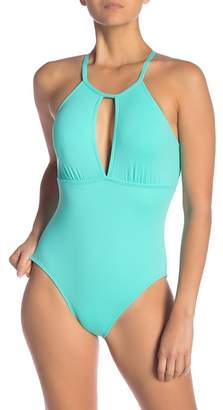 MIO La Blanca Swimwear Goddess Hi-Neck One-Piece Swimsuit