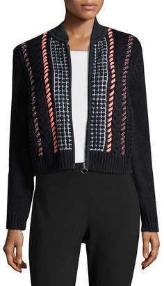 Versace Textured Zipper Cardigan
