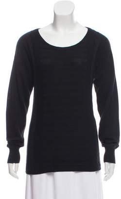 Kimberly Ovitz Distressed Scoop Neck Sweater