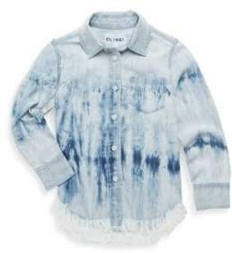DL Premium Denim Toddler's, Little Girl's& Girl's Olivia Washed Fray-Hem Shirt