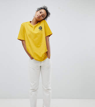 Converse Cons Skate Logo Back T Shirt In Yellow
