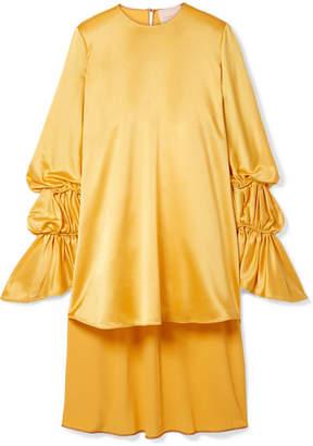 Roksanda Rosina Oversized Hammered Silk-satin Blouse - Marigold