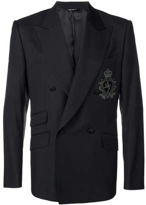 Dolce & Gabbana patch double-breasted blazer