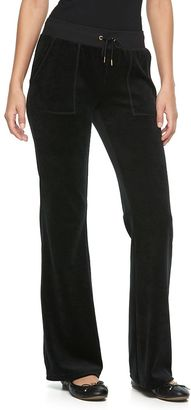 Women's Juicy Couture Solid Bootcut Velour Pants $50 thestylecure.com