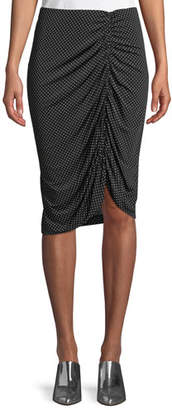 Nanette Lepore Spa Day Jersey Skirt in Polka Dots